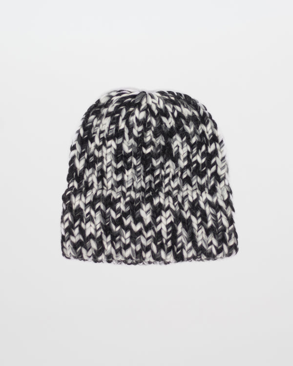 Limited Edition - The Dubbel Beanie in Static by Forefolk. Handmade and sustainably sourced chunky knit wool hat