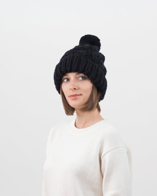 Cable Knit Hat Pattern For Beginners. Winter Hat Pattern by Forefolk