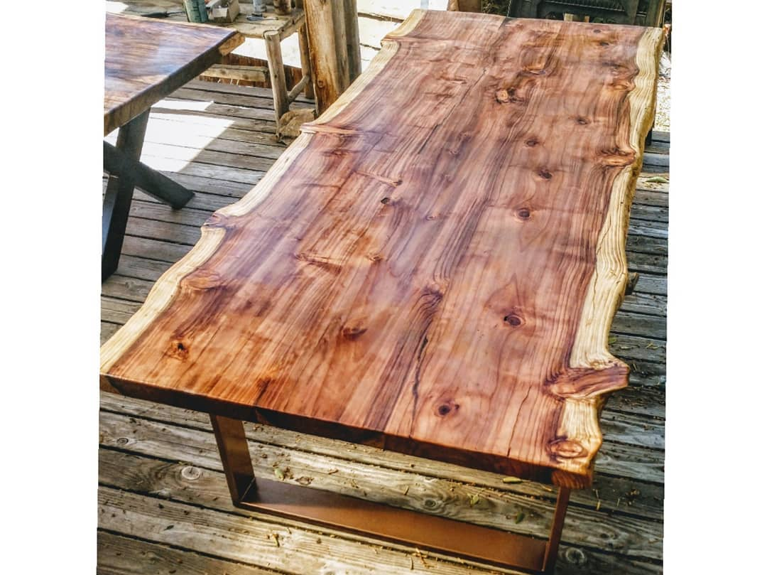 Live Edge Wooden Long Table