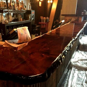 Live Edge Wooden Bar Top