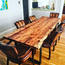 Load image into Gallery viewer, Elegant Live Edge Dining Table