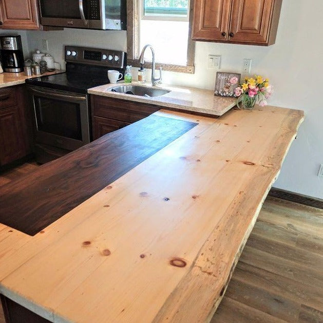 Live Edge Wooden Counter Top