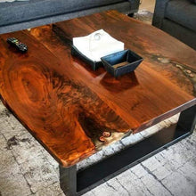 Load image into Gallery viewer, Live Edge Wooden Coffee Table