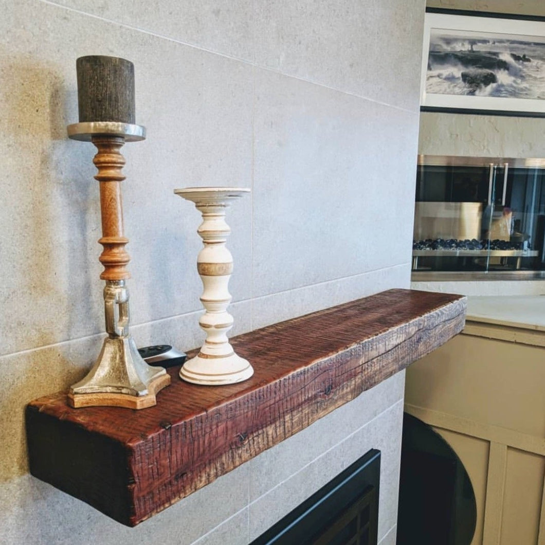 Live Edge Wall Mounted Mantel