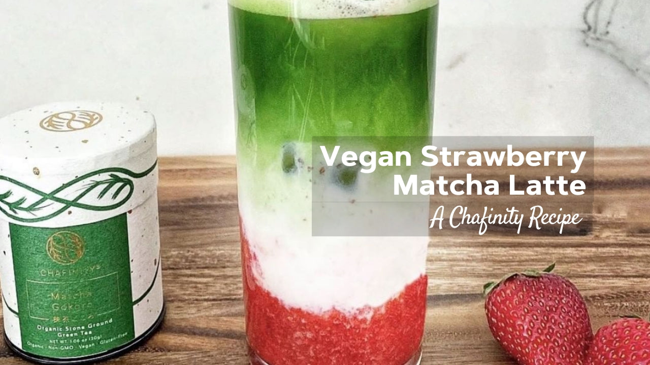 Vegan Strawberry Matcha Latte