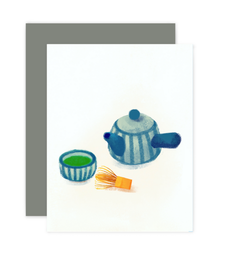 Green Tea Greeting Card (Hand Written)