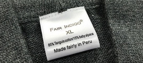 Made In Peru tag
