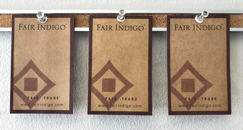 Fair Indigo hang tags