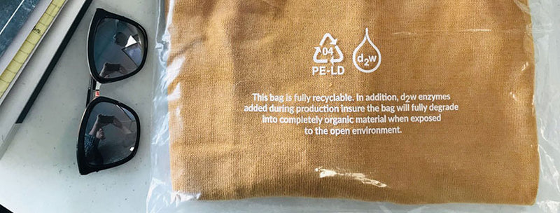 This Bag Is Fully Degradable. Like a Leaf.