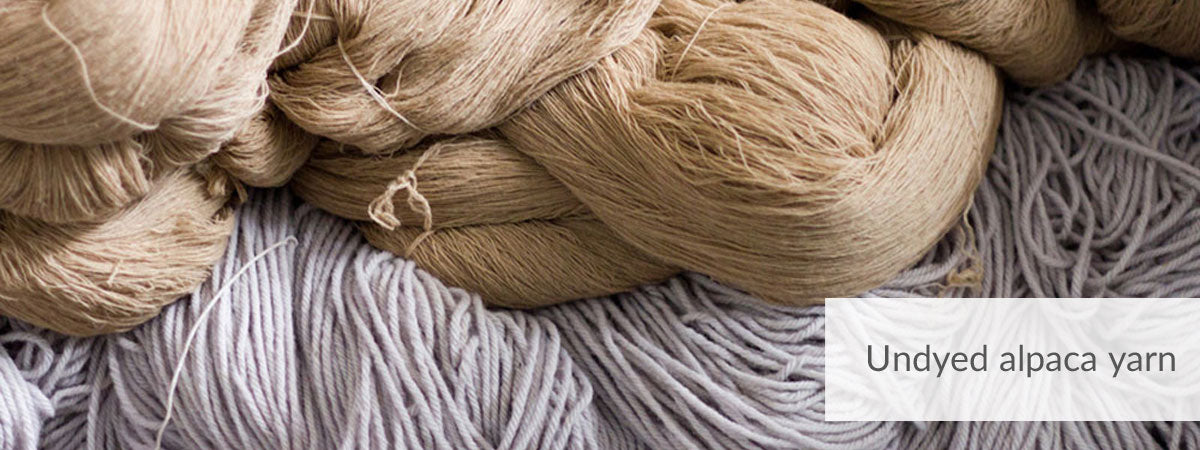 Peruvian alpaca and cotton yarns