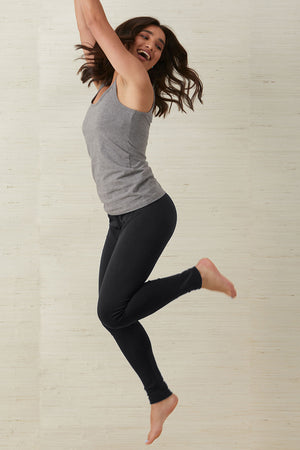 Womens 100% Organic Cotton Leggings - Fair Indigo
