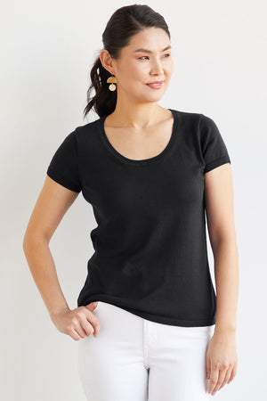 Organic Scoop Neck Sweater