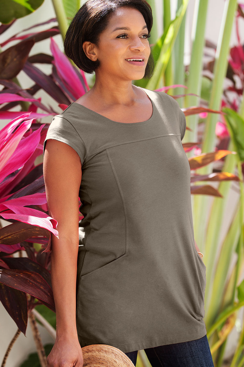 Cap Sleeve Pocket Tunic