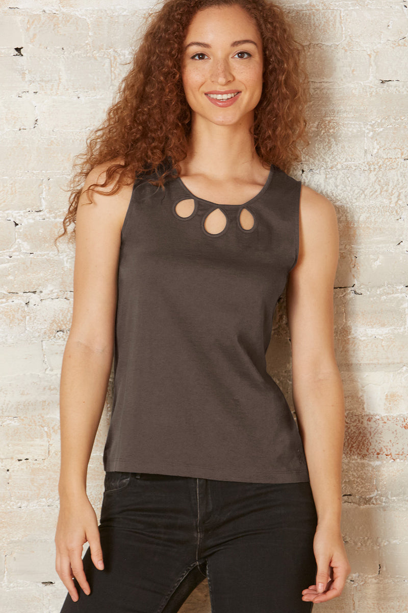 organic sleeveless cutout top