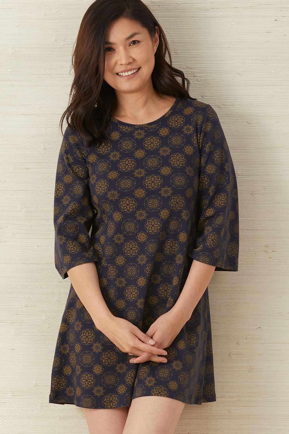 fair-indigo-womens-fair-trade-organic-shift-dress-with-bell-sleeves