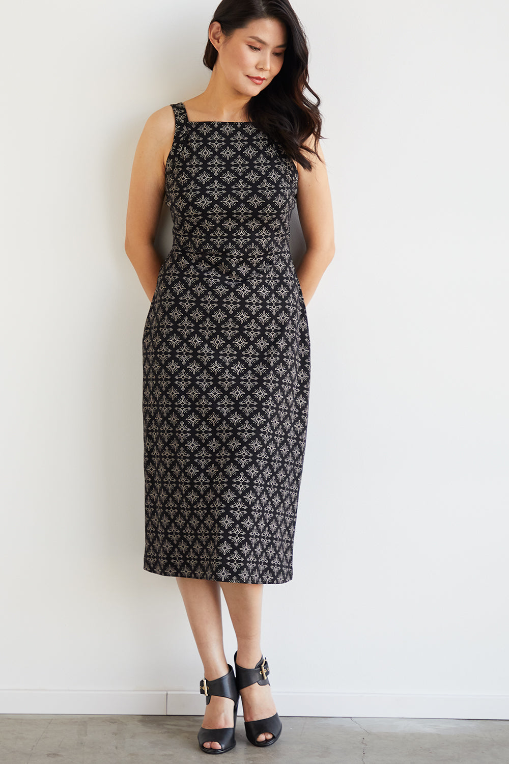 Womens 100% Organic Cotton Midi Dress - Fair Indigo
