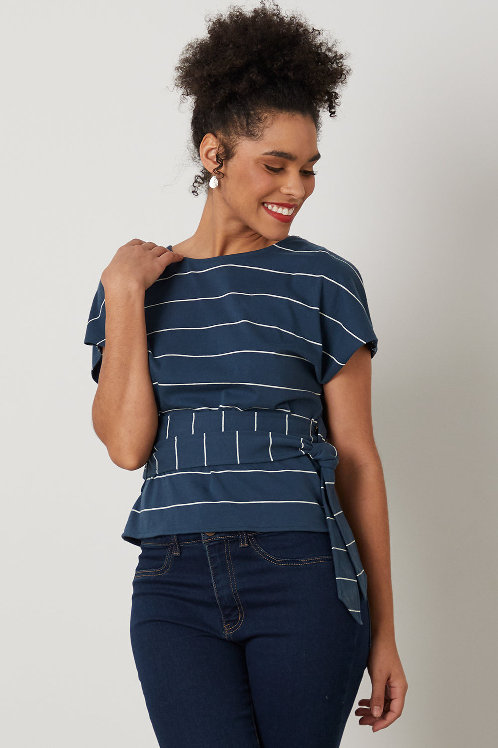 Womens Organic Reversible Top - Fair Indigo