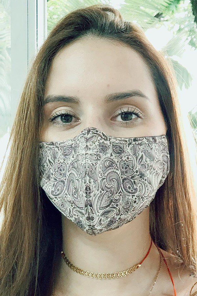 ethically made recycled paisley face mask