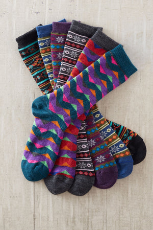Pattern Alpaca Socks