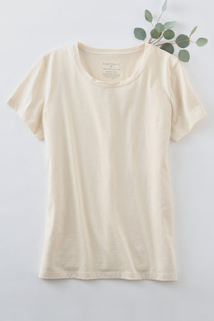 Womens 100% Organic Cotton Dye Free T-shirt - Fair Indigo