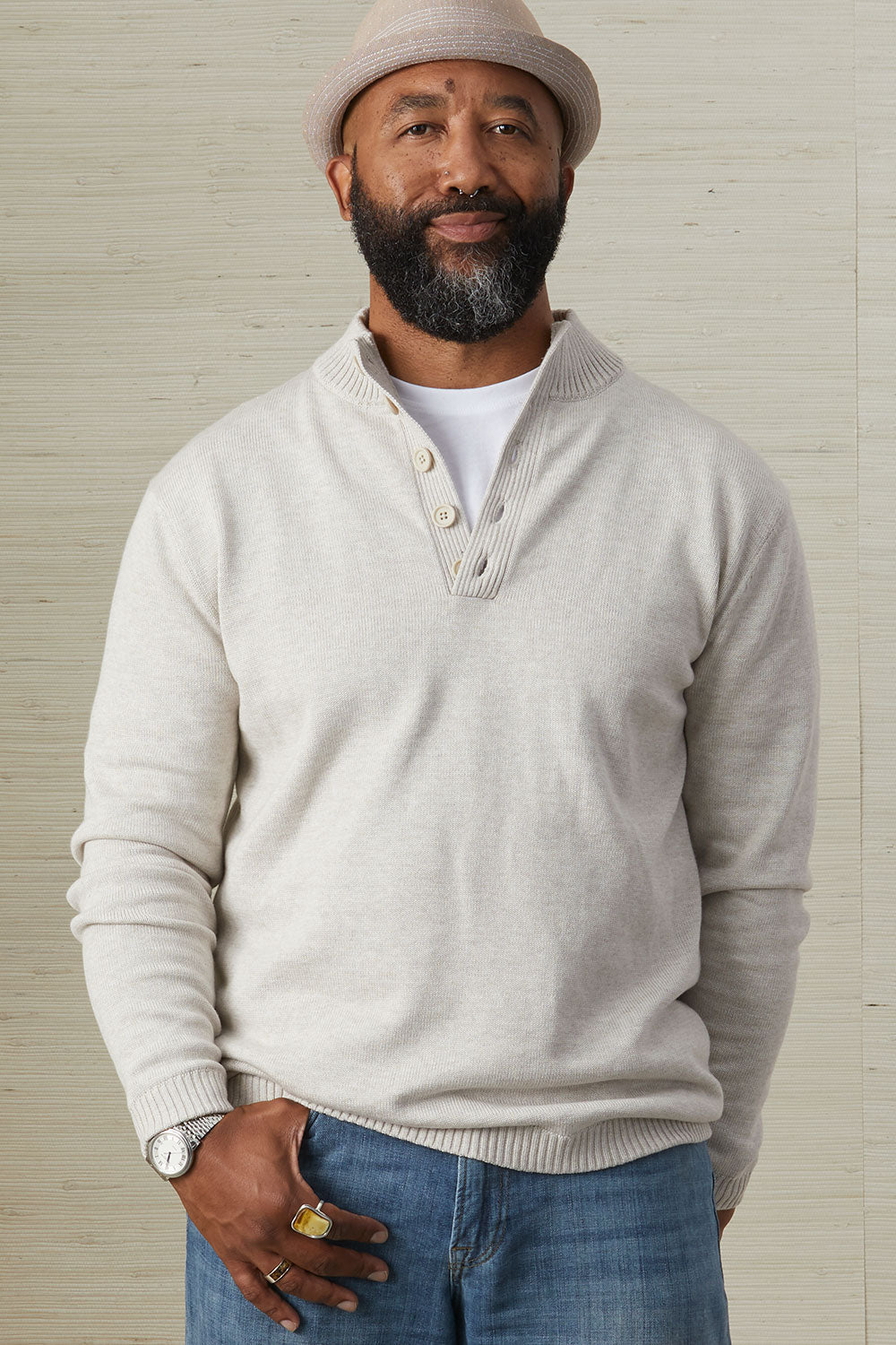 Button Pullover Sweater