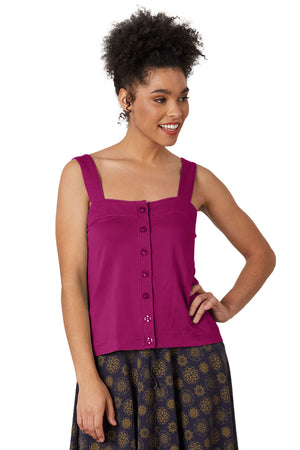organic button tank berry