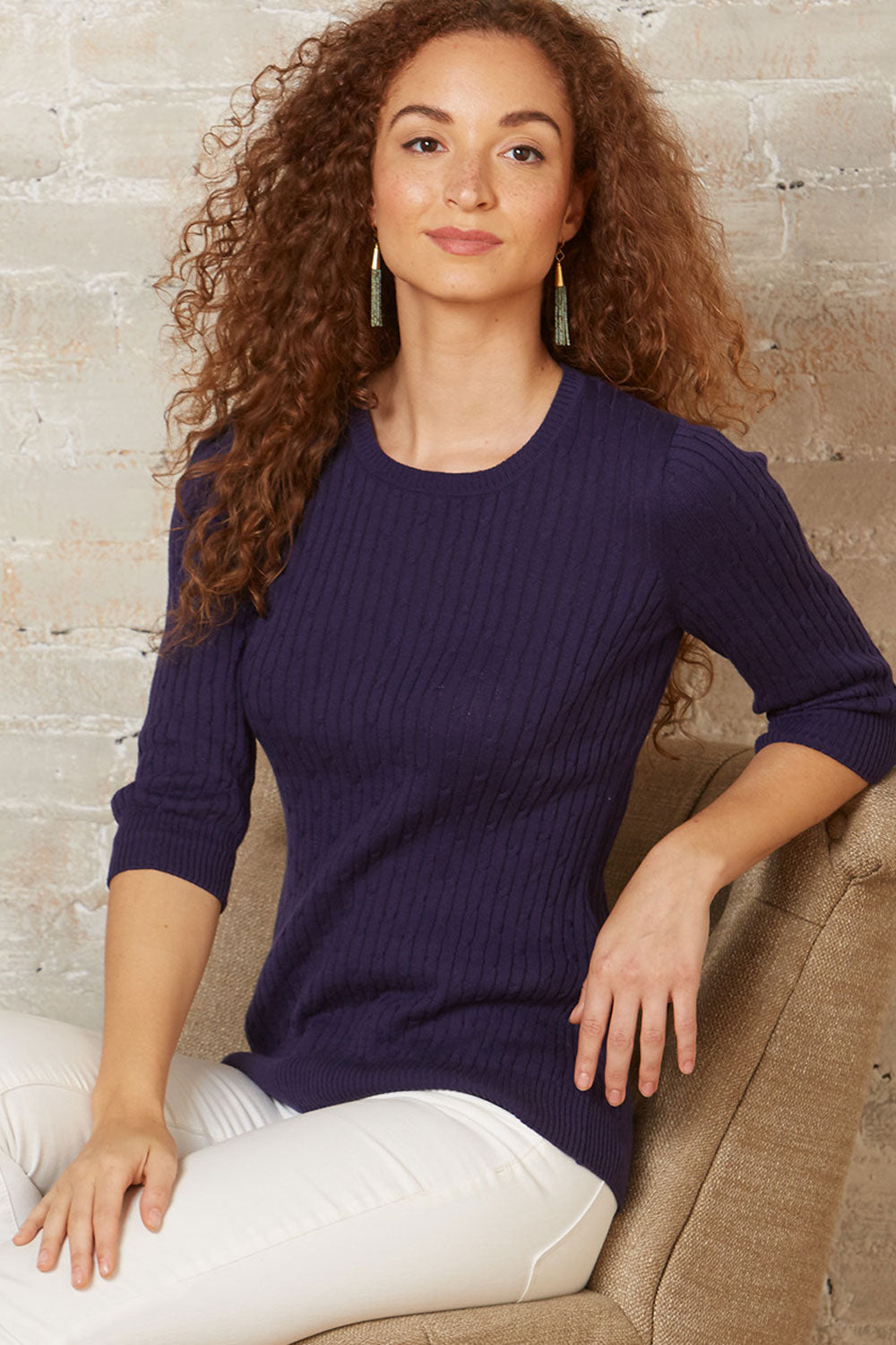 fair-indigo-womens-fair-trade-organic-3-4-sleeve-cable-crew-sweater