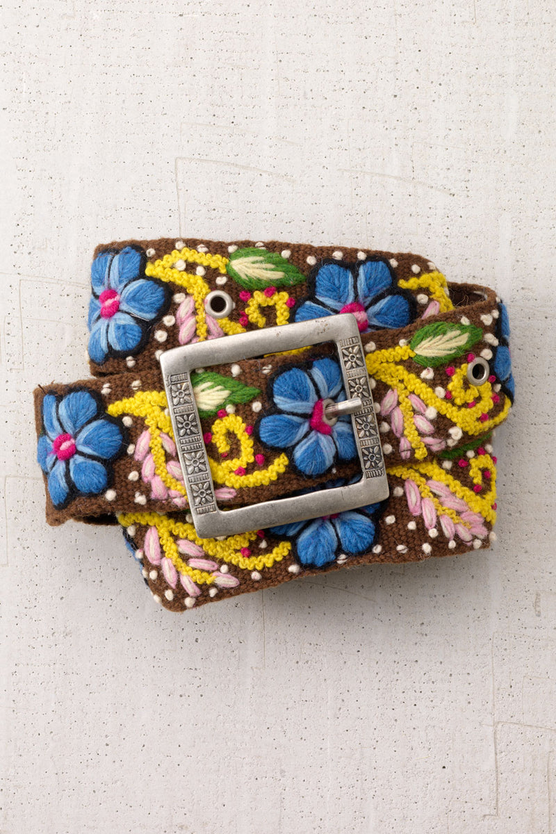tey-art-womens-fair-trade-flora-hand-embroidered-wool-belt-brown