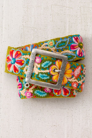 tey-art-womens-fair-trade-flora-hand-embroidered-wool-belt-olive
