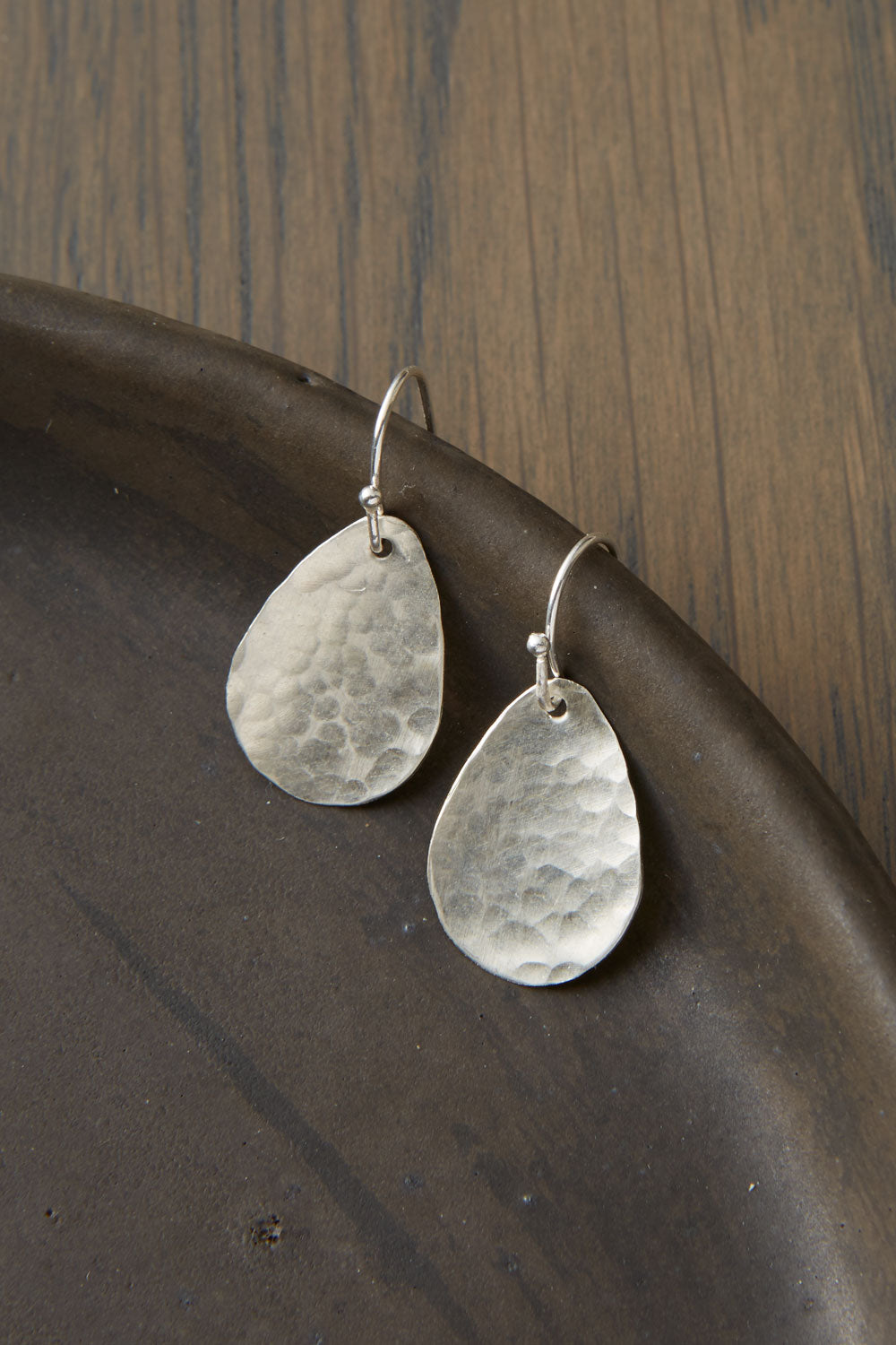 Womens Usa Made Sterling Silver Raindrop Earrings