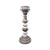 LHO Wood White Stripe Candlestick