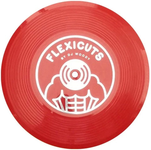 FLEXICUTS 1 - DJ WOODY - 7IN ( RED FLEXI DISC)
