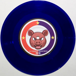 "DJ TORQUE - ADOBO CUTS & BOODLE BATTLE - 7"" (Blue Vinyl)"