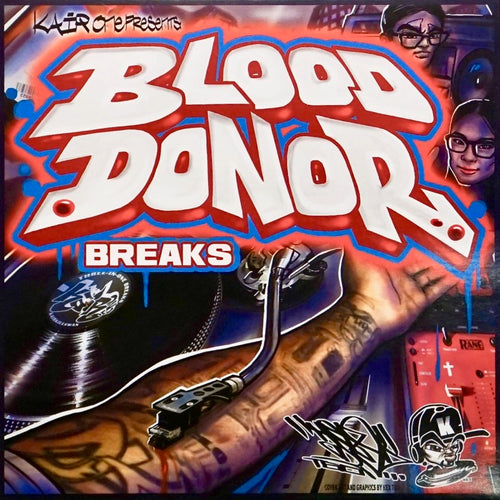 KAIR ONE - BLOOD DONOR BREAKS - 7IN (White Vinyl)