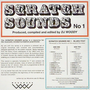 "DJ WOODY SCRATCH SOUNDS NO. 1 -  7"" (BLUE VINYL)"
