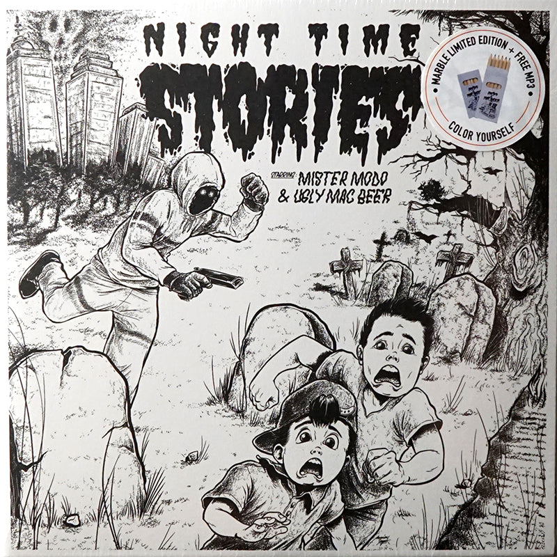 NIGHT TIME STORIES - UGLY MAC BEER - 7IN 2X (SMOKE MARBLE)