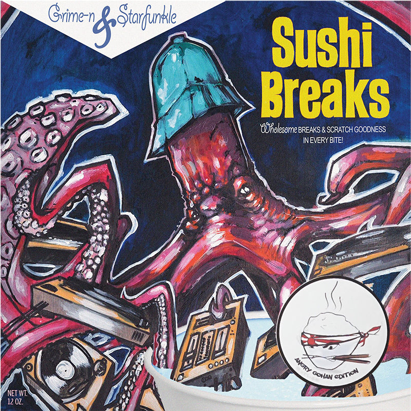 Grime-n & Starfunkle - Sushi Breaks -ANGRY GOHAN EDITION -7IN (WHITE Vinyl)