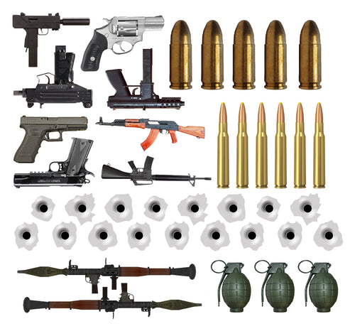 JDD-CUE DOT - GUN DECALS - SHEET