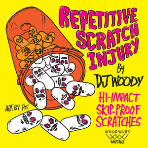 Dj WOODY - Repetitive Scratch Injury - 7IN (PINK VINYL)
