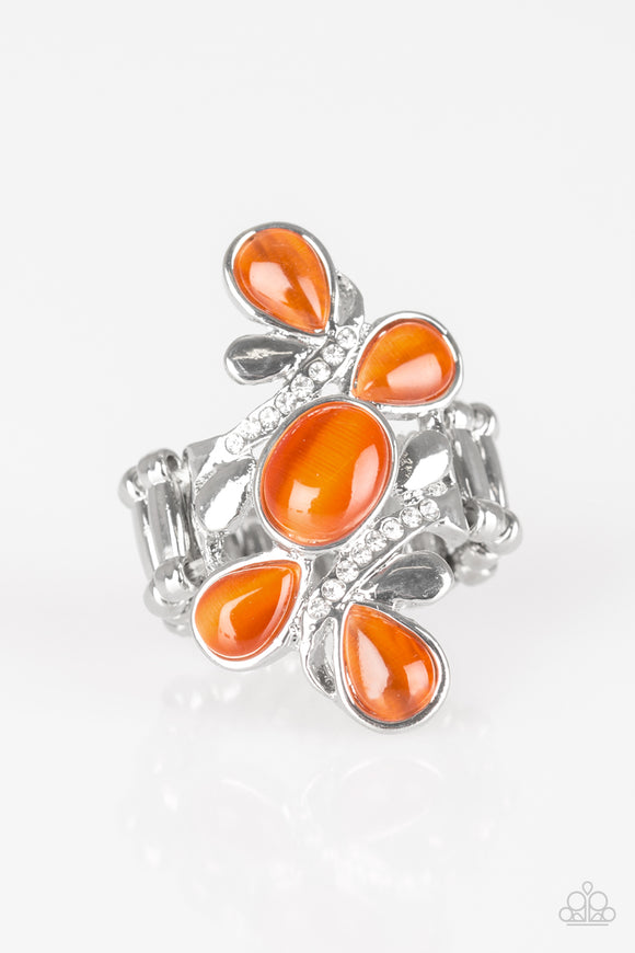 Bliss Out - Orange Moonstone - Stretch Ring