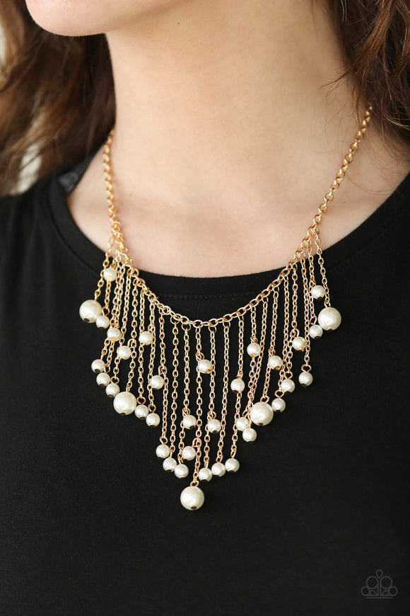 Catwalk Champ - Gold - Short Necklace