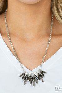 Crown Couture - Silver - Short Necklace