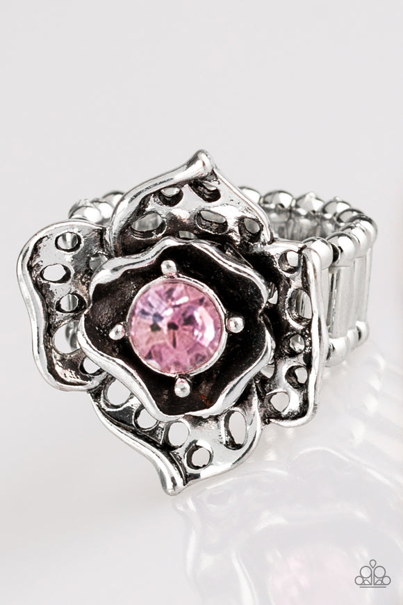 Glowing Gardens - Pink - Stretch Ring