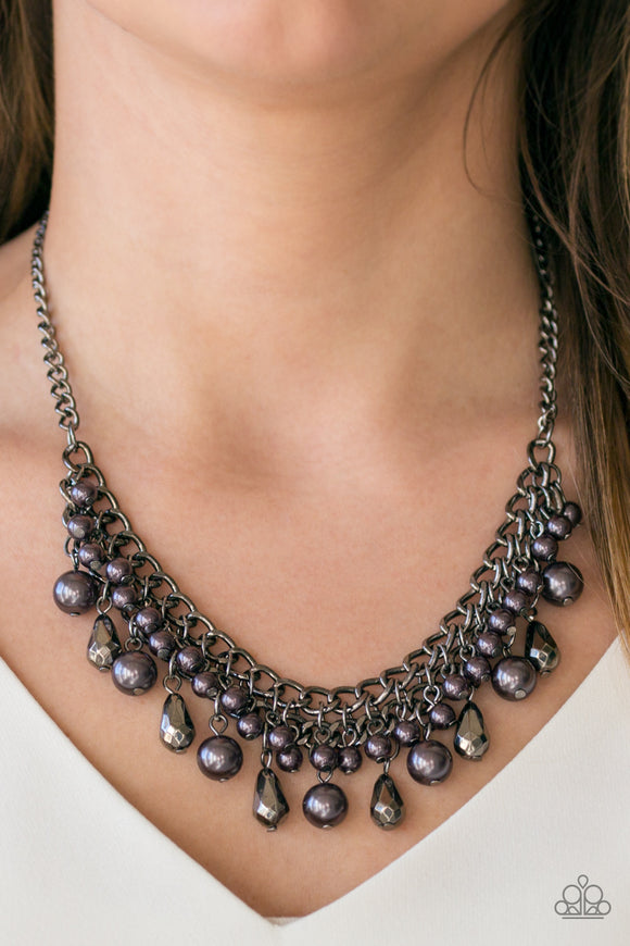 Imperial Idol - Charcoal Gray/Black - Short Necklace