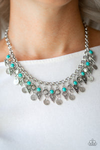 Jurassic Jamboree - Blue - Short Necklace