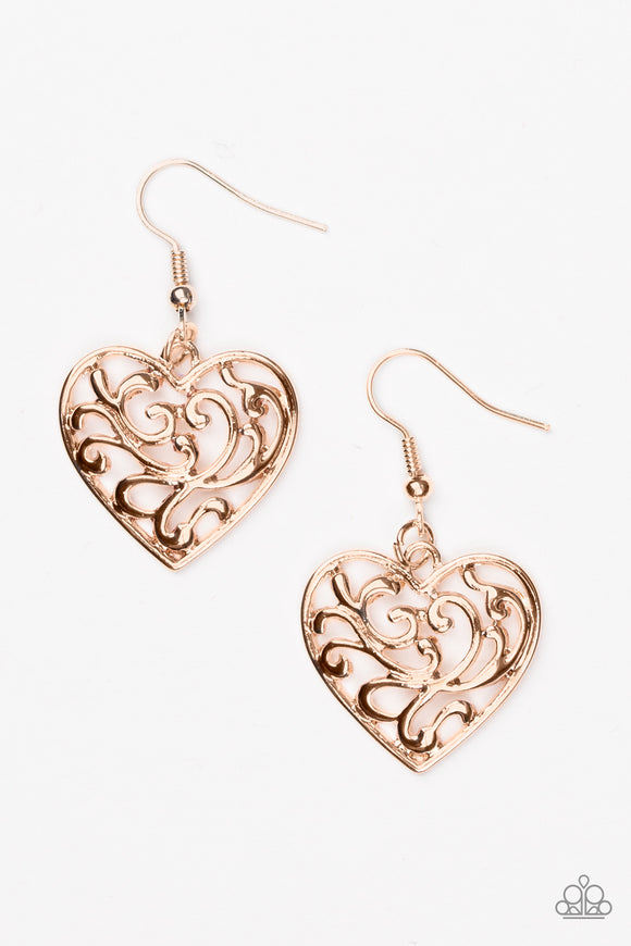 The Truth HEARTS - Rose Gold - Earrings