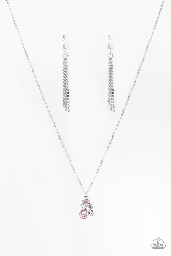 Time To Be Timeless - Pink - Short Necklace