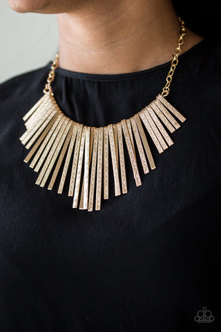Welcome To The Pack - Gold - Short Necklace