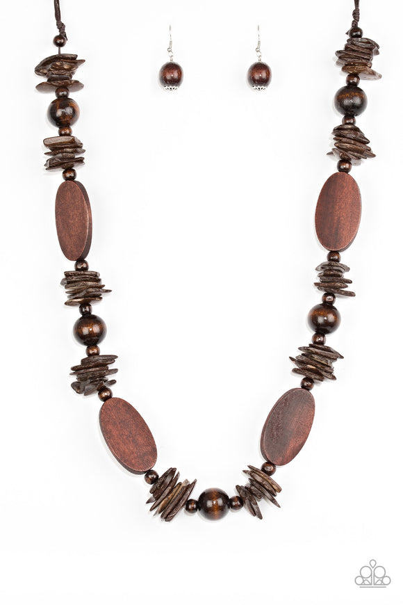 Carefree Cococay - Brown - Long Necklace