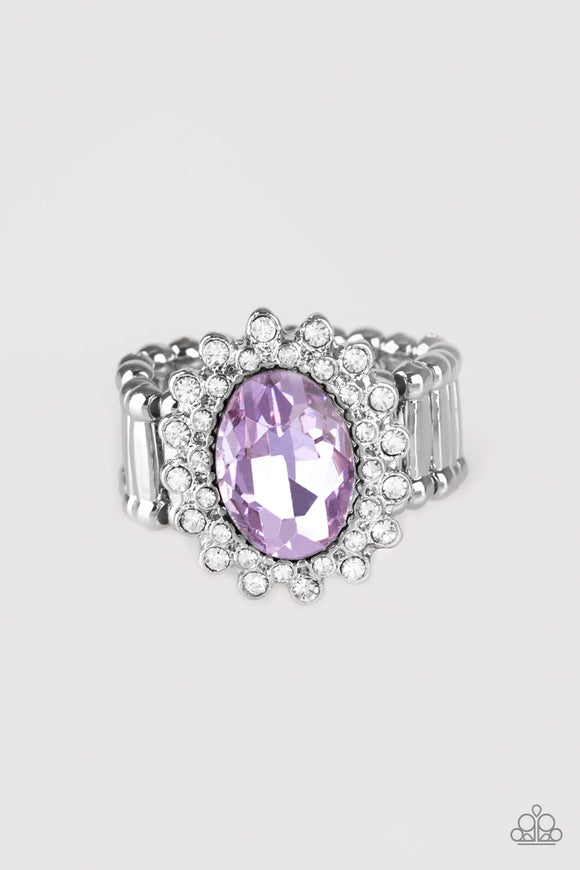 Castle Chic - Purple - Stretch Ring